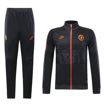 CHELSEA TRACKSUIT BLACK-AND-ORANGE