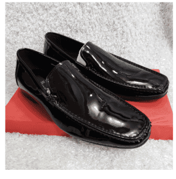 Patent Men's Loafers + A Free Happy Socks