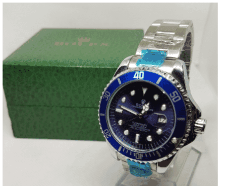 Men's Rolex Submarine Blue Face Wrist Watch