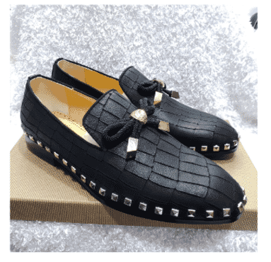 Croc Tassel Louboutin Loafer Shoe + A Free Happy Socks