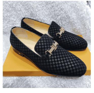Suede Monk Louis Vuitton Shoe + A Free Happy Socks
