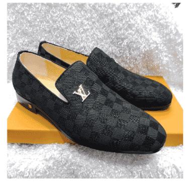 Designed Louis Vuitton Loafer Shoe + A Free Happy Socks