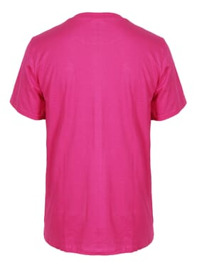 Fashion Dark Pink Round Neck T-Shirt