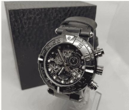 Black Invicta Chronograph Wrist Watch