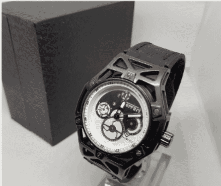 Men's Ferrari Hublot Titanium Black Wrist Watch