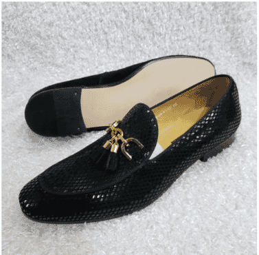 Shinny Men's Tassel Loafer Shoe + A Free Happy Socks