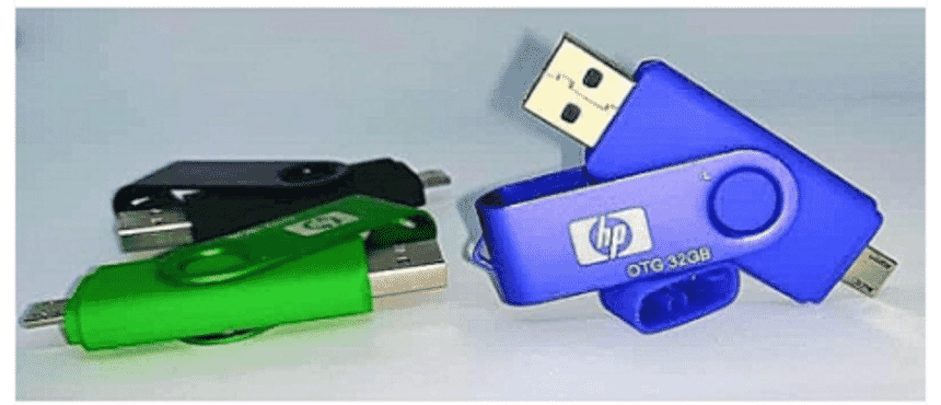 HP USB 2.0 OTG Flash Drive 32G USB Stick Smart Phone And Computer Flash Memory GREEN,BLUE,BLACK