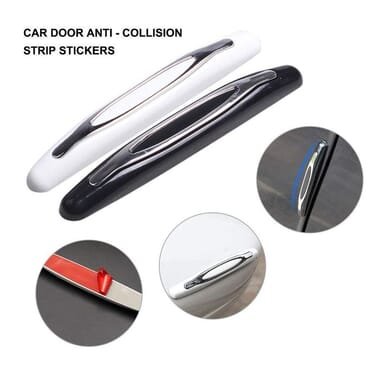 4Pcs Universal Car Door Side Protector Bumper/Edge Guards Strips Anti-Scratch Anti-Collision Body Sticker Trim Decoration