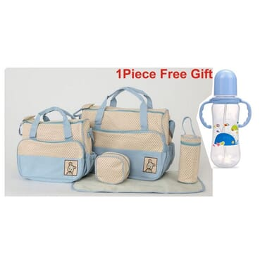 4 In 1 Large Capacity Maternity Diaper Bag/Nursing Mother Bag+1 Free 250ml Baby Feeding Bottle