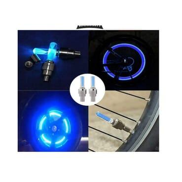 4pcs LED Flash Tyre Wheel Valve Cap Light, Bike Bicycle Car Motor Wheel