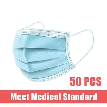 50 Pieces Face Mask Surgical Disposable
