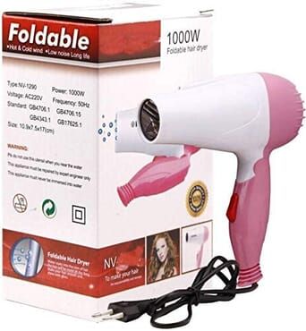 Professional Foldable Hair Dryer 1000W