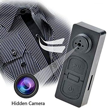 Button Pinhole Spy Hidden Camera