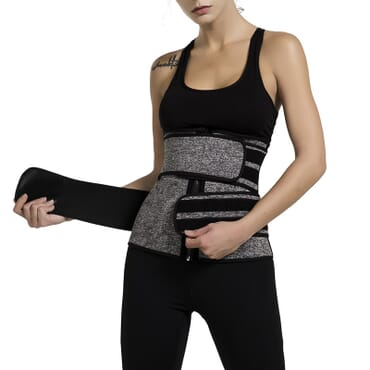 Solid Neoprene Waist Trainer (Double Belt)