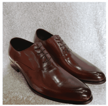 Brown Oxford Men's Shoe + A Free Happy Socks