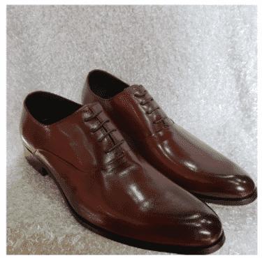 Brown Oxford Men's Shoe + A Free Happy Socks