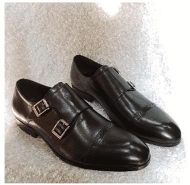Cap-toe Men's Monk Strap Shoe + A Free Happy Socks
