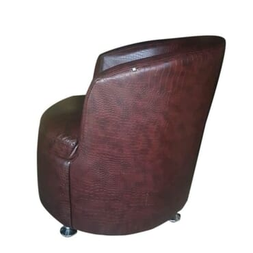 Bucket Sofa - Glossy Brown