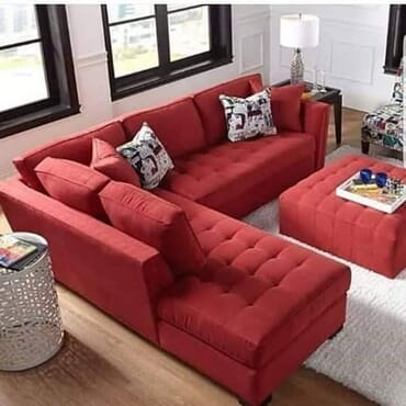 Sturdy Sectional Sofa - Red