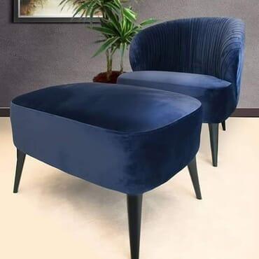 Aesthetic Arm Chair - Blue