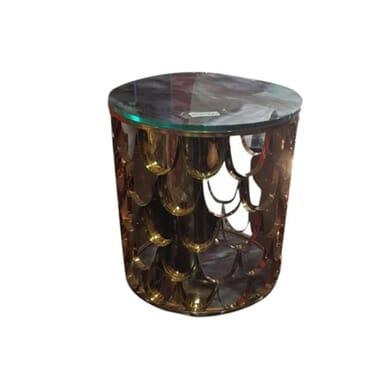 Basky Bronze Marble Stool