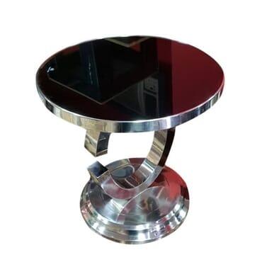 Steel Marble Top Side Table