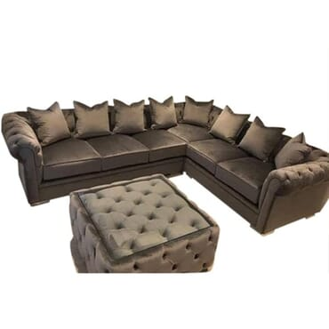Sturdy Sectional Sofa - Brownish Grey