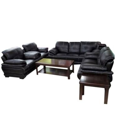 Puffy Black Sofa