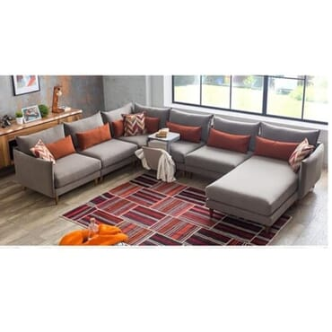Grey Standalone Sectional Sofa