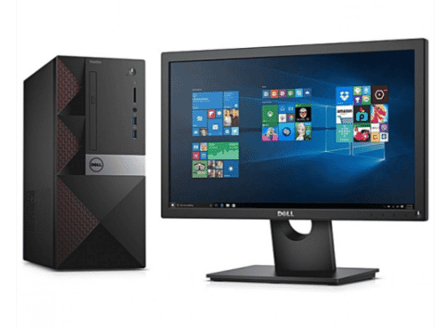 Dell Vostro 3668 Desktop Intel Pentium Dual Core 3.50 GHz 500GB/2GB RAM DDR4 Ubuntu Linux+ Monitor