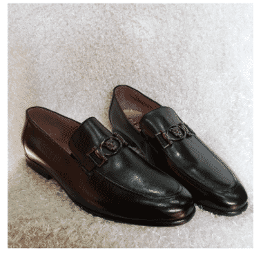 Exotic Men's Horsebit Loafer Shoe + A Free Happy Socks
