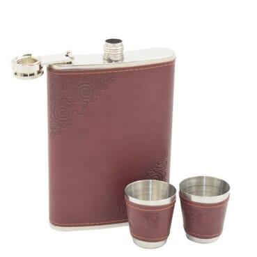 5 In 1 9oz Classy Men Stainless Steel Hip Flask