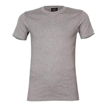Police X.001 Extra Size Plain Grey Short Sleeve O-Neck T-Shirt