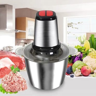 Meat Grinder, Electric Food Chopper (2L), Stainless Steel Kitchen Food Processor