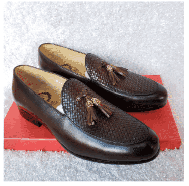 Designed Vamp Tassel Loafer Shoe + A Free Happy Socks