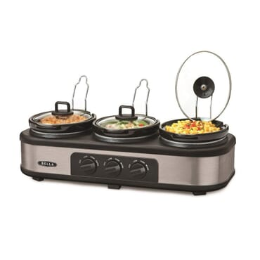 Bella Triple Slow Cooker and Warming Station