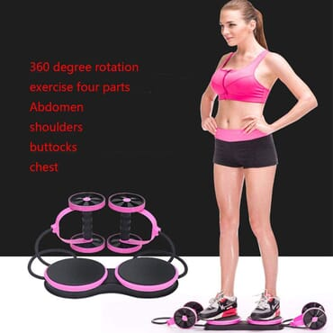Ab Roller Wheel for Abdominal Exercise Fitness and Shoulder Muscle/Arm Muscle/Thigh Workout