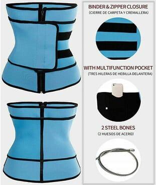 Women Neoprene Slimming Waist Trainer Body Shaper Belt