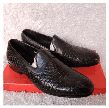 Designed Plain Loafer Shoe + A Free Happy Socks
