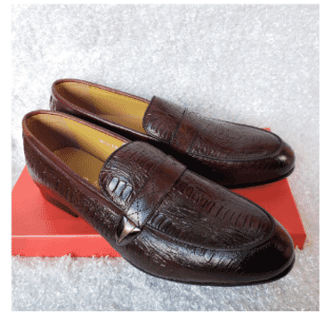 Designed Men's Loafer Shoe + A Free Happy Socks