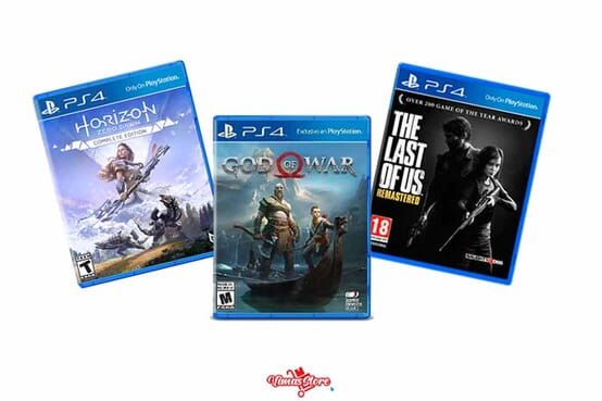 Sony PlayStation 4 Console, 1TB, DUALSHOCK 4 Wireless Controller, GOD OF WAR, LAST OF US, HORIZON JET BLACK