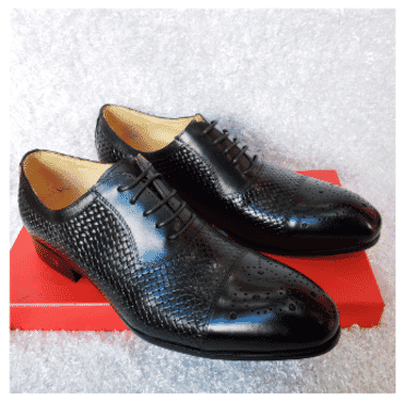 Brogues Men's Lace-up Shoe + A Free Happy Socks