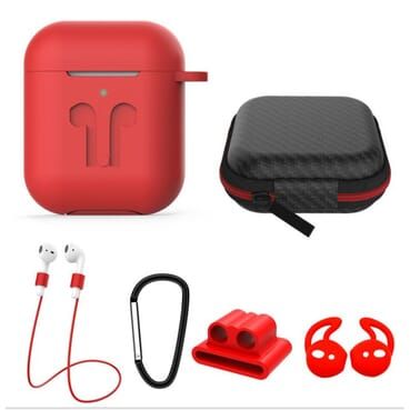 6in1 AirPodd Accessories Set Shockproof Silicone Case Cover
