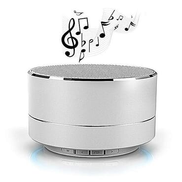 Generic Portable Super Bass Bluetooth Speaker With FM And TF Card - Silver