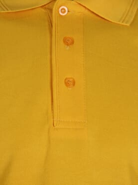 PLAIN POLO T-SHIRT YELLOW