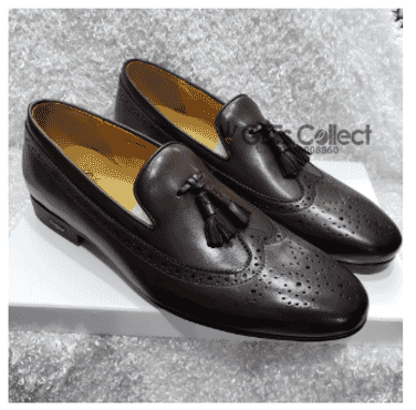 Exotic Men's Tassel Loafer Shoe + A Free Happy Socks