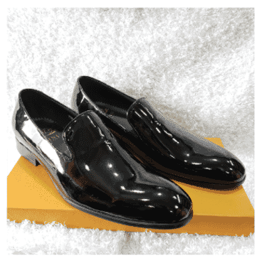 Patent Monk Loafer Shoe + A Free Happy Socks