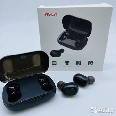 Wireless headset TWS-L21 white in package