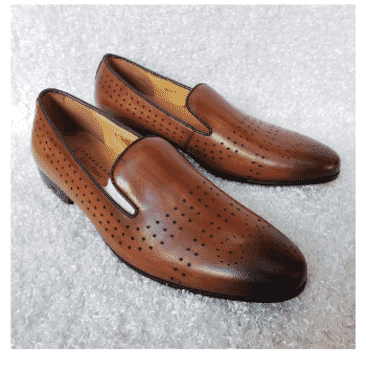 Dotted Men's Loafer Shoe + A Free Happy Socks