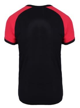 1-029 Black Red Body Size T-Shirt